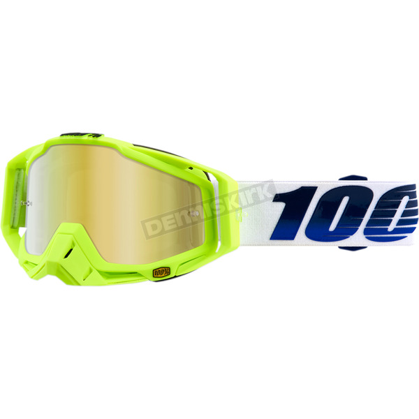 100% Racecraft GP21 Goggles w/Mirror Gold Lens - 50110-247-02