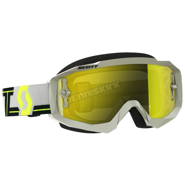 Scott Gray/Yellow Hustle MX Goggles w/Yellow Chrome Lens - 262592-1120289