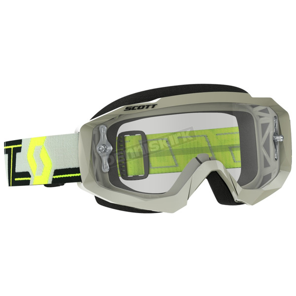 Scott Gray/Yellow Hustle MX Goggles w/Clear Lens - 262592-1120113