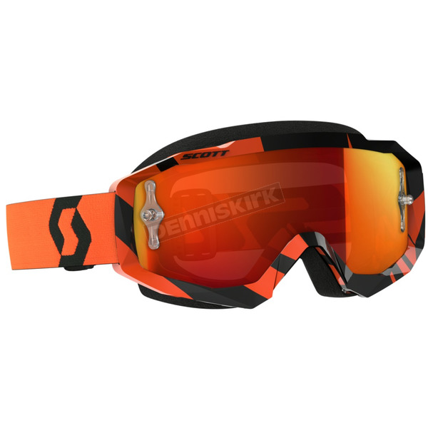 Scott Black/Orange Hustle MX Goggles w/Orange Chrome Lens - 262592-1009280
