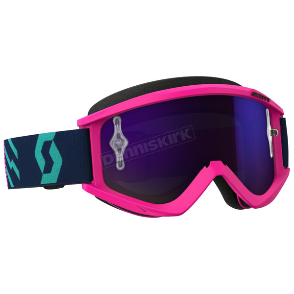 Scott Pink/Teal Recoil XI Goggles w/Purple Chrome Lens - 262596-5722281