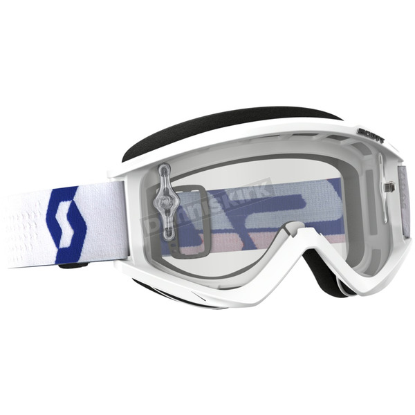 Scott White Recoil XI Goggles w/Clear Lens - 262596-1030113