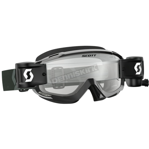 Scott Black/White Split OTG WFS Goggles w/Clear Lens - 262600-1007113