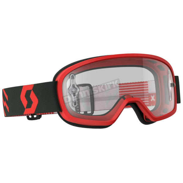 Scott Youth Red/Black Buzz Pro Goggles w/Clear Lens - 262602-1018113