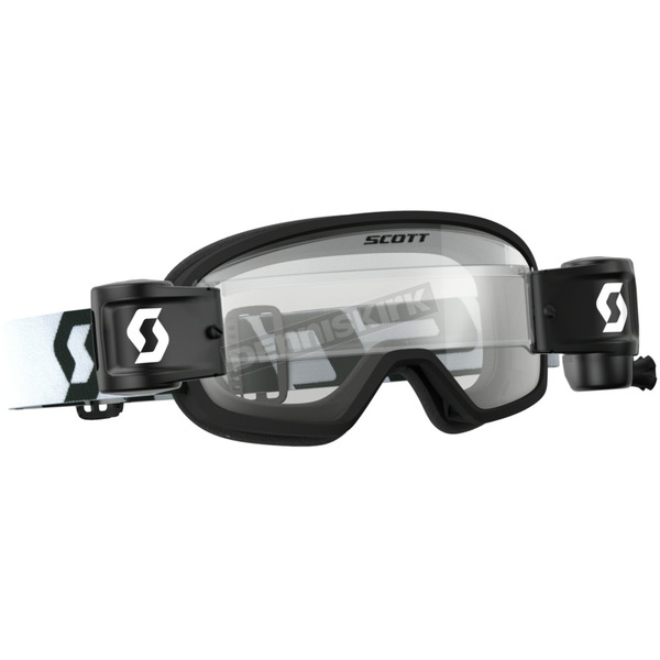 Scott Youth Black/White Buzz Pro WFS Goggles w/Clear Lens - 262578-1007113