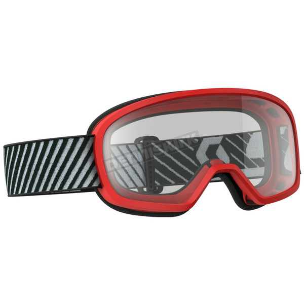 Scott Youth Red Buzz Goggles w/Clear Lens - 262579-0004043