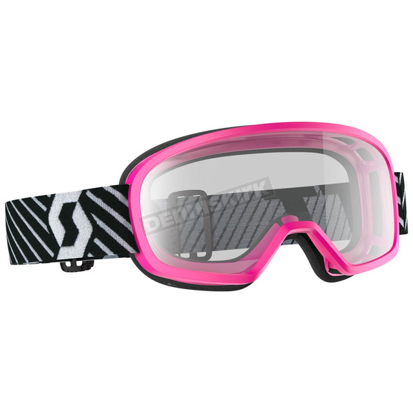 Scott Youth Pink Buzz Goggles w/Clear Lens - 262579-0026043
