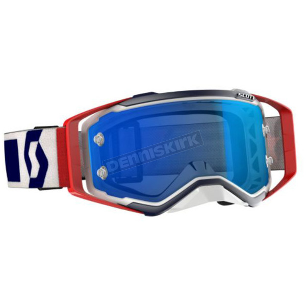 Scott Red/White/Blue Prospect Military LE Goggles w/Blue Lens - 268178-1228278