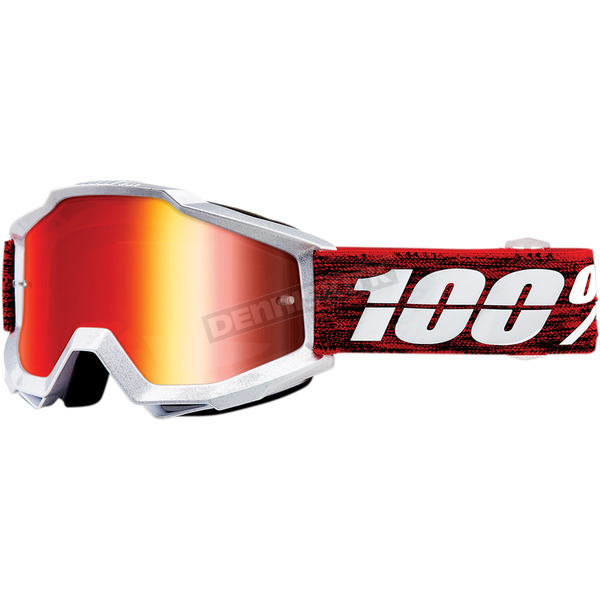 100% Accuri Graham Goggles w/Red Mirror - 50210-285-02