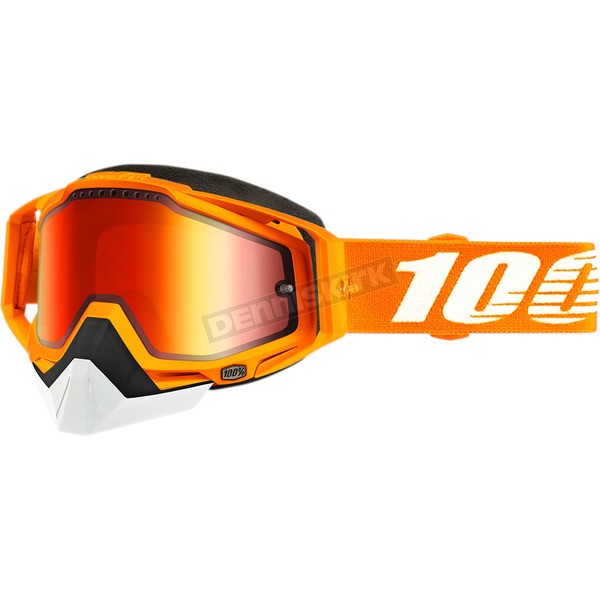 100% Racecraft Crush 2 Snow Goggles w/Red Mirror Lens  - 50113-291-02