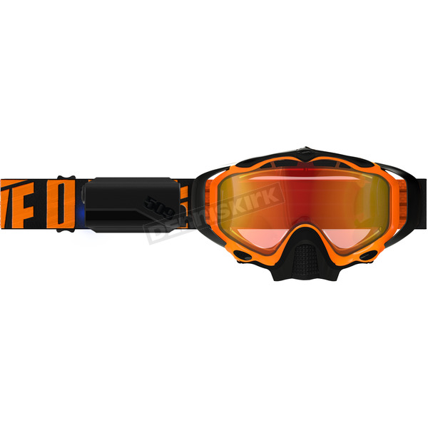 509 Particle Orange Sinister X5 Ignite Goggles w/Fire Mirror/Rose Tint Lens - F02002100-000-403