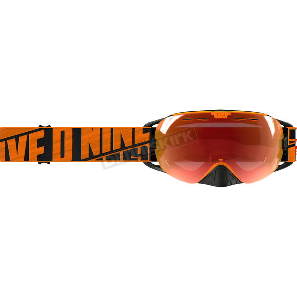 509 Particle Orange Revolver Goggles w/Fire Mirror/Rose Tint Lens - F02001700-000-402