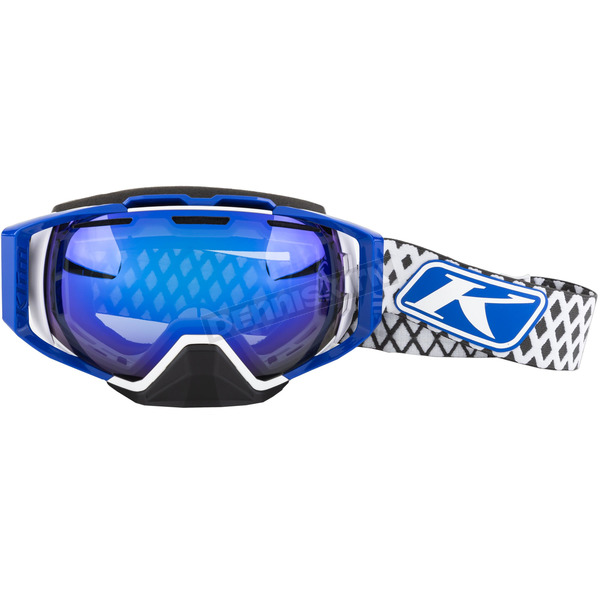 Klim Blue/White Diamond Fade Oculus Snow Goggles  - 3240-000-000-009
