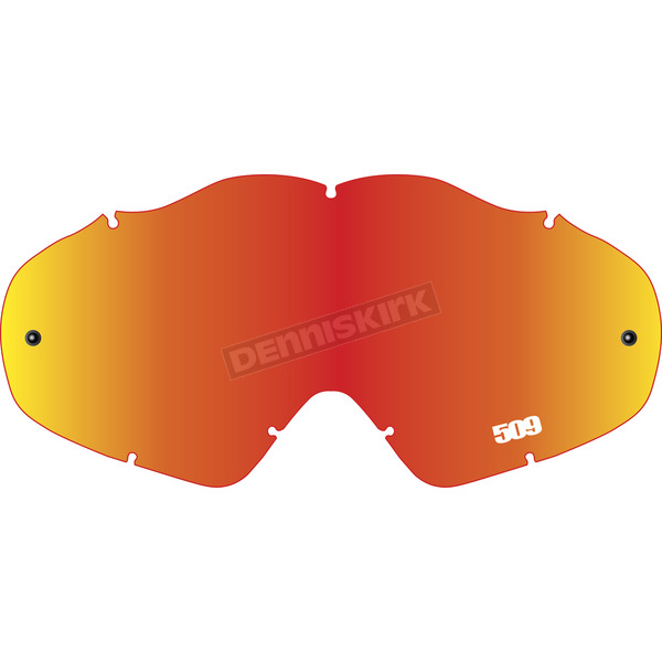 509 Fire Mirror/Rose Replacement Offroad Open Box Lens for MX-5 Goggles - 509-MX-X5LEN-13-FR