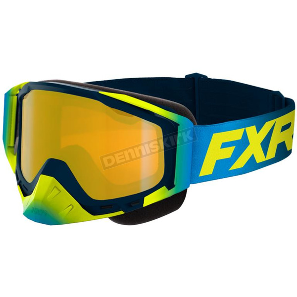 Hi-Vis/Blue Core Snow Goggles w/Brown Lens/Gold Finish - 203102-6540-00