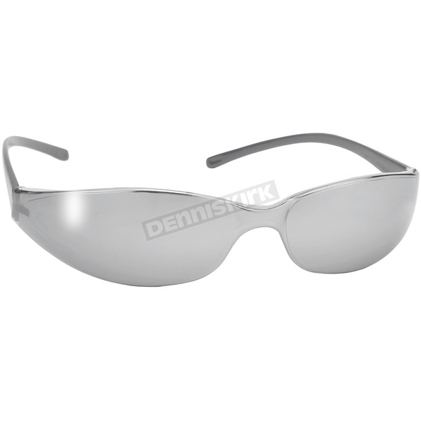 Silver Skinny Joes Sunglasses w/Silver Mirror Lens - 13510