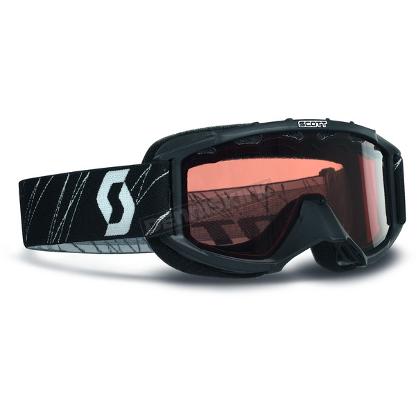 Youth Black 89SI Snowcross Goggles w/Rose Lens - 217801-0001108
