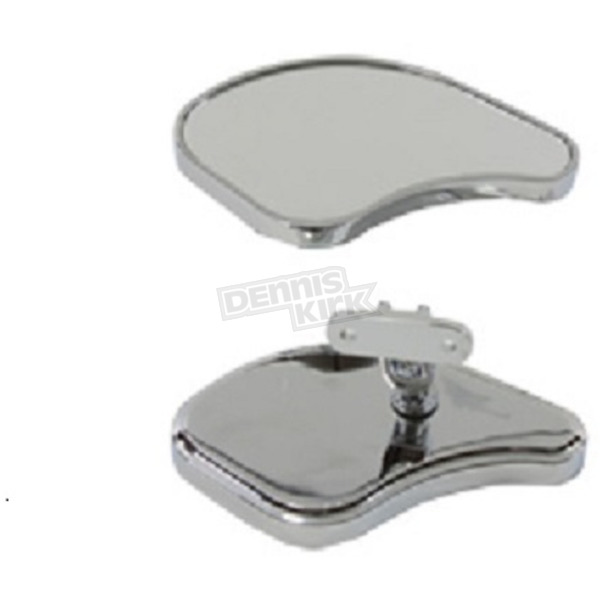 V-Twin Manufacturing Chrome Fairing Mirror Set - 34-8218