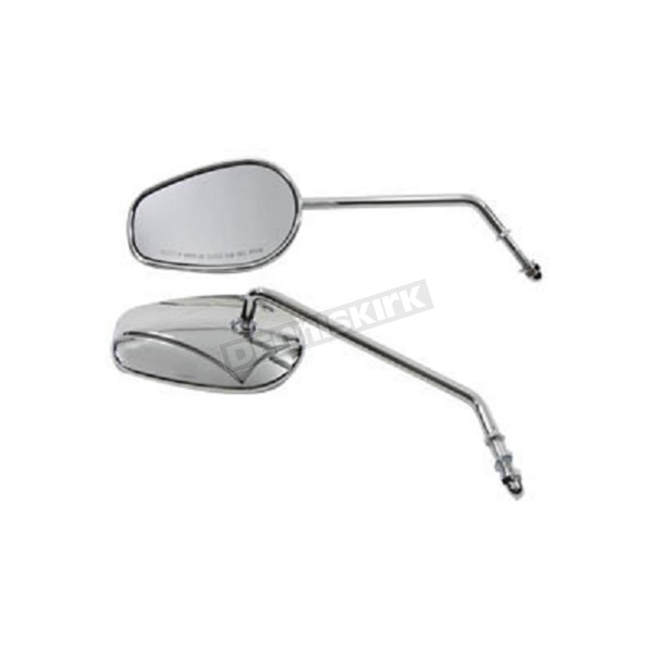 Chrome Rectangle Mirror Set - 34-0392
