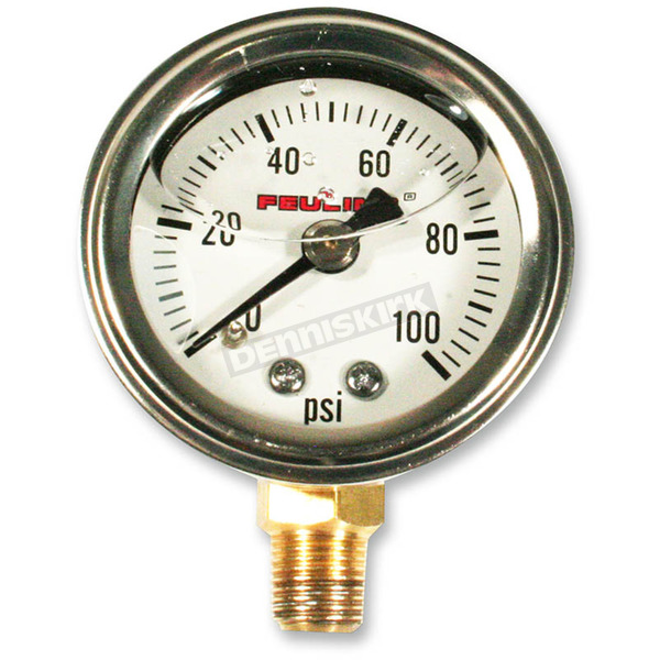 Feuling Motor Company Oil Pressure Gauge w/White Face - 9040