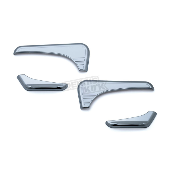 Kuryakyn Chrome Tri-Line Accents for Glove Box  - 6924