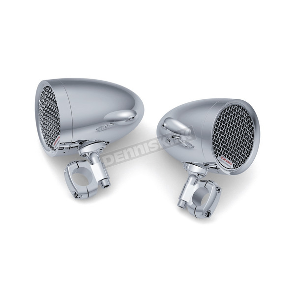 Kuryakyn Chrome Road Thunder Speaker Pods by MTX - 2710