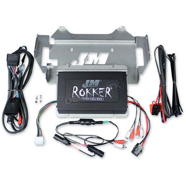 J&M Corporation Rokker XXRP 630W 4-CH DSP Programmable Amplifier Kit - JAMP-630HC14ULP