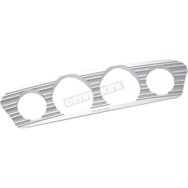 Arlen Ness Chrome 10-Gauge Inner Fairing Gauge Trim - 30-340