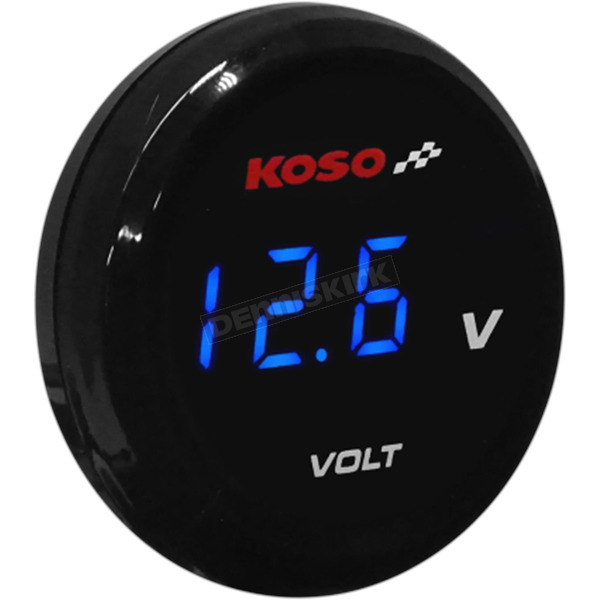 Koso North America I-Gear Voltage Meter w/Blue Digits - BA067B00