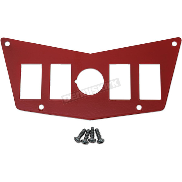 Moose Red 4-Switch Dash Plate - 0521-1716