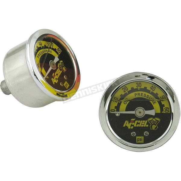 Stainless/Chrome 0-60 PSI Oil Pressure Gauge - 7121A