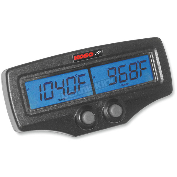 Koso North America Dual Exhaust Temperature Meter w/Tachometer and Water Temperature - BA006B00X