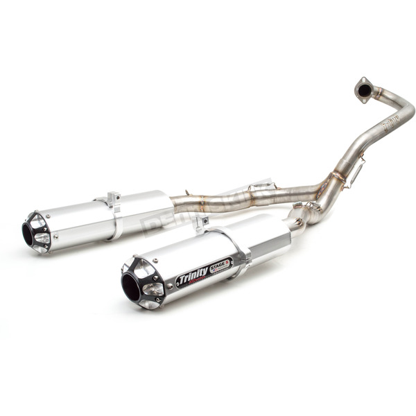 Dual Brushed Exhaust System  - TR-4112D