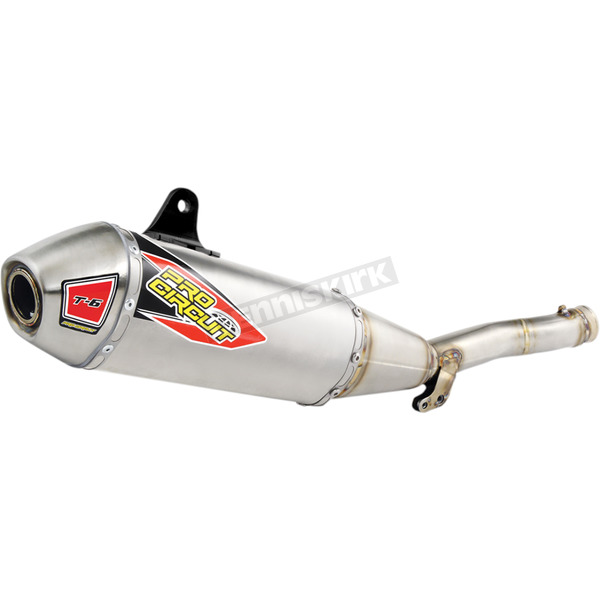 Pro Circuit T-6 Stainless Steel/Aluminum Slip-On Muffler w/Removable Spark Arrestor - 0131645A