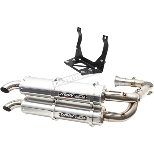 Trinity Racing Silver Stage 5 Dual Exhaust System - TR-4151D