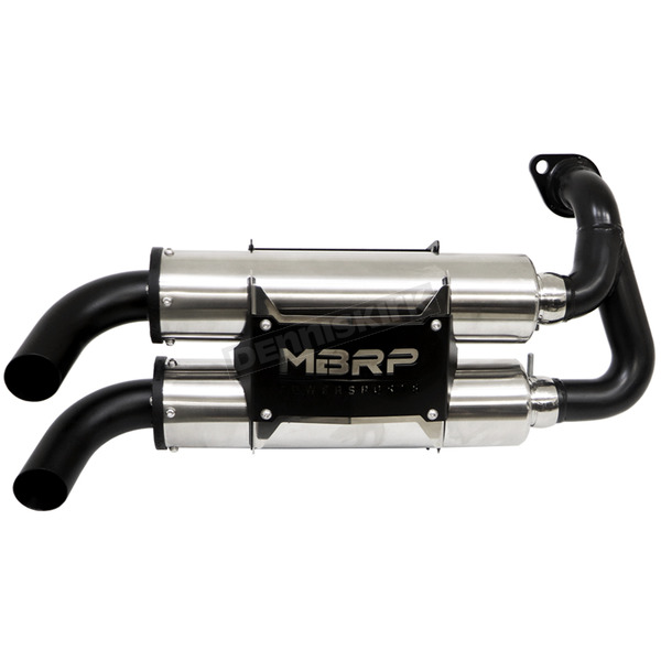 MBRP Dual Stack PowerTech 4 Slip-On Muffler - AT-9519PT