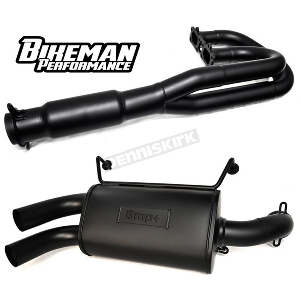 Black Double Barrel 2-Into-1 Full Exhaust System - 08-310-CB