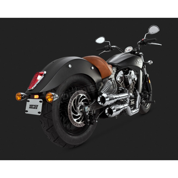Vance & Hines Chrome Hi-Output Grenades Exhaust System - 18554