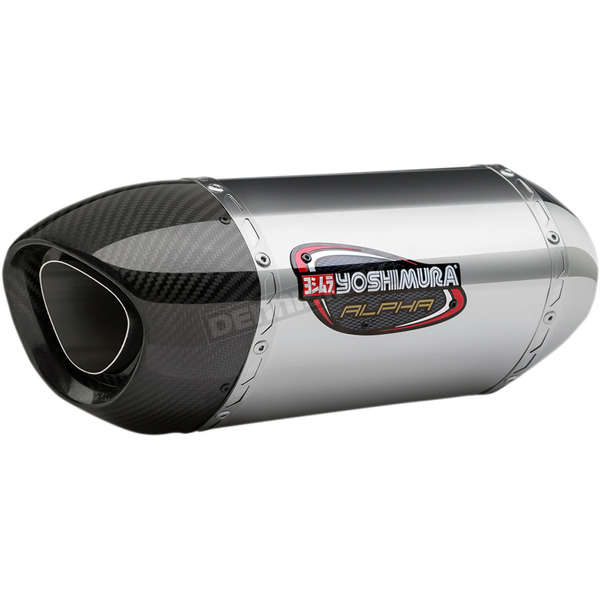 Yoshimura Signature Alpha Stainless/Stainless/Carbon Fiber Slip On Exhaust - 11181EM520