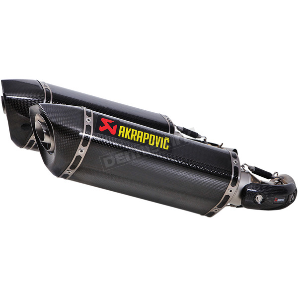 Akrapovic Titanium/Carbon Fiber/Carbon Fiber Slip-On With Hexagonal Muffler - S-D10SO7-HZC