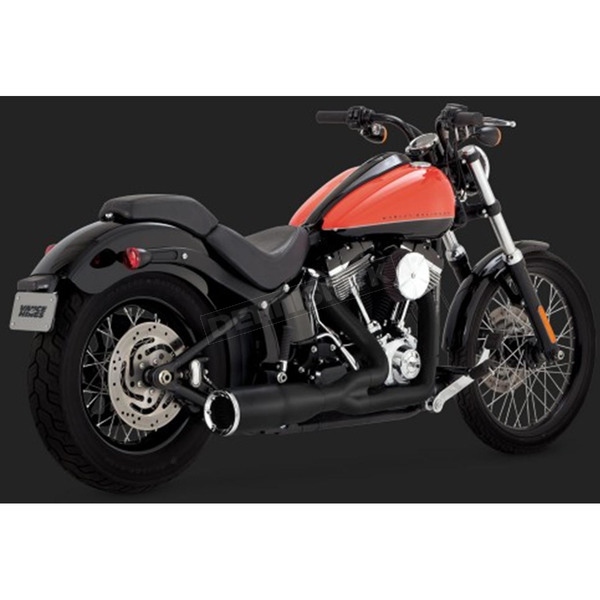 Vance & Hines Black Hi-Output 2-into-1 Short Exhaust System - 46543