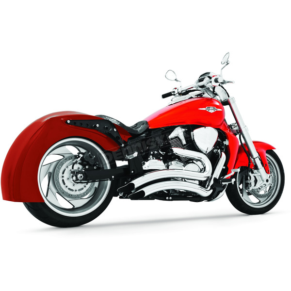 Freedom Performance Chrome Sharp Curve Radius Series Exhaust System - MS00005