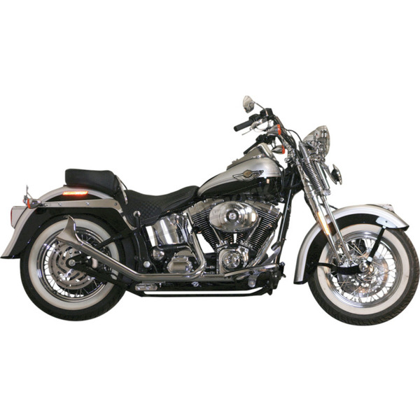 Paughco Chrome 1-3/4 in. 2-2 Upsweep Fishtail Exhaust - 726SBS