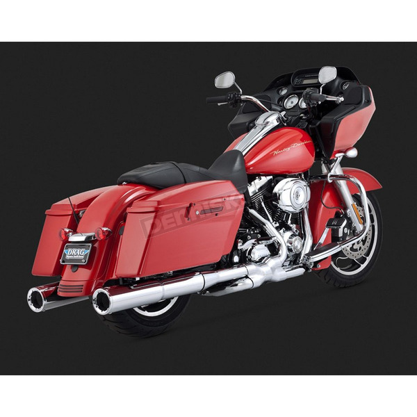 Vance & Hines Chrome 4 1/2 in. Hi-Output Slip-On Mufflers - 16463