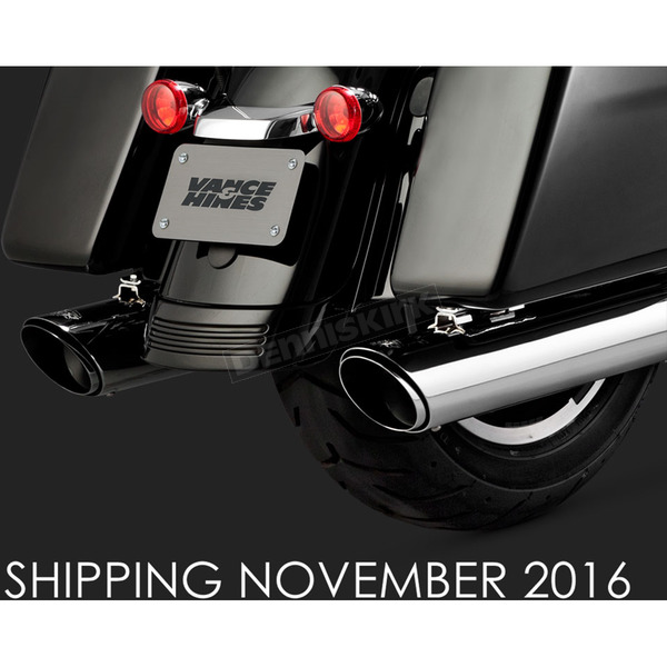 Vance & Hines Chrome Round Twin Slash Slip-On Mufflers - 16672