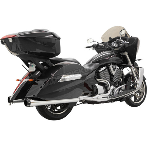 Bassani Chrome Road Rage 2-Into-1 System w/B1 Style Quick-Change End Caps - 6C28R
