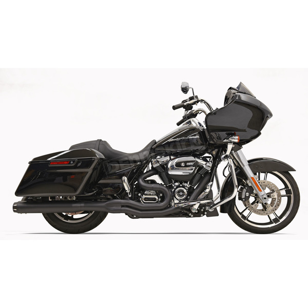 Bassani Black Road Rage 2-Into-1 System w/4 in. Straight Can Muffler Housing - 1F58RB
