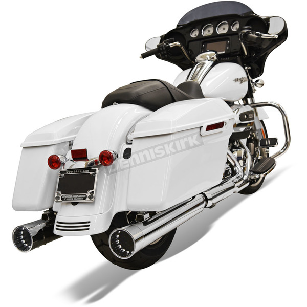 Bassani Chrome w/Chrome End Cap 4 in. DNT Straight Can Muffler w/Acoustically Tuned Baffle - 1F72DNT6