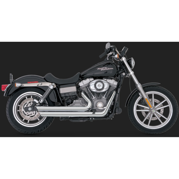 Vance & Hines Chrome Big Shots Staggered Exhaust System - 17938