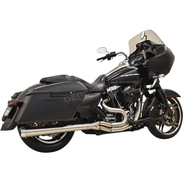 Bassani Long Road Rage III 2-Into-1 System w/Megaphone-Style Muffler - 1F11SS